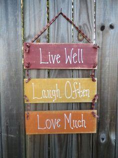 Primitive handmade sign