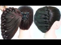 very easy hairstyle using clutcher with trick Lazy Day Hairstyles, Very Easy Hairstyles, Easy Updo Hairstyles, Heatless Hairstyles, Amazing Hairstyles, Long Haircuts, Hairstyles Videos, Hairdos, Wedding Hairstyles
