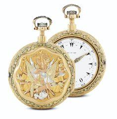 DANIEL DE ST. LEU A TRI-COLORED GOLD PAIR CASED QUARTER REPEATING CLOCK WATCH, MADE FOR THE TURKISH MARKET CIRCA 1790