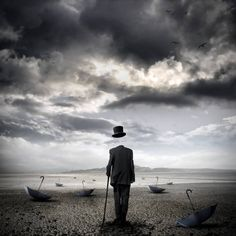 "Saatchi Art Artist Stefano Bonazzi; New Media, ""The cemetery of umbrellas"" #art"