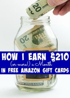 How I Earn $210 (or more!) a Month in Amazon Gift Cards to Boost My Budget!