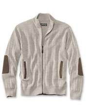 Our classic fisherman's cardigan sweater looks great dressed up or down.