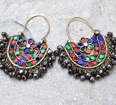 Afghan Kuchi Tribal Earrings Jewelry