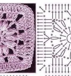 26 Grannys Maravillosos Manta Crochet, Chrochet, Dory, Knitting, Crafts, Rugs, Diy And Crafts, Molde, Crochet Dolls