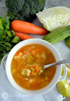 Sopa de verduras - Tax Tutorial and Ideas Baby Food Recipes, Mexican Food Recipes, Soup Recipes, Diet Recipes, Vegetarian Recipes, Cooking Recipes, Healthy Recipes, Sopas Light, Deli Food