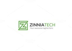 Zinnia Tech Z Letter Logo by XpertgraphicD on @creativemarket