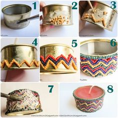 Find images and videos about diy, free crafts and paso a paso on We Heart It - the app to get lost in what you love. Upcycled Crafts, Recycled Art, Tin Can Crafts, Diy And Crafts, Arts And Crafts, Diy Lampe, Ramadan Decorations, Diy Recycle, Bottles And Jars