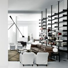 Shop SUITE NY for the 606 Universal Shelving System designed by Dieter Rams for De Padova and more aluminum organizational systems, modern storage systems and Wall Shelving Units, Shelving Systems, Storage Systems, Shelves, Modern Interior Design, Interior Architecture, Decoration Table, Decor Diy, Rustic Decor