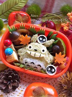 秋の空飛ぶトトロのお弁当【キャラ弁】 の画像|Naocoのキャラ弁日記