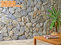 Eco Outdoor Wamberal free form walling close up. Wall Cladding Tiles, Exterior Wall Cladding, Stone Feature Wall, Stone Wall Design, Natural Stone Wall, Natural Stone Cladding, Limestone Wall, Outdoor Stone, Brick And Stone
