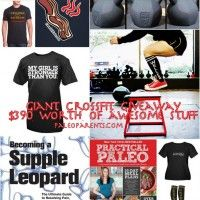 CrossFit Gear Giveaway by @PaleoParents ($390 of stuff) by @NomNomPaleo @CivilizedCaveman @Melicious11 @CaveGirlEats @BalancedBites @ThePaleoMom @VictoryBelt @demonbells @LifeAsRX and guest featuring @TheUrbanPoser