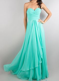 custom NEW DRESSES Floor Length Bodice Chiffon Strapless by VEIL8, $109.00 Love, Love, Love this color!