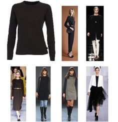 Long sleave black t-shirt Robe di Kappa  for look of Fall Winter 2013-14 ----- T-shirt nera manica lunga Robe di Kappa per look Autunno-Inverno 2013-14