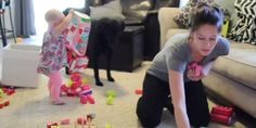 "Perfectly accurate video shows ""why moms get nothing done"" http://huff.to/1z3T42O"