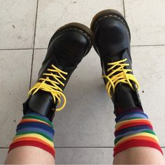 Docs and Socks: The 1460 boot, shared by sallywhitwell.                                                                                                                                                                                 More