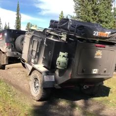 Having a little fun on the trails! Jeep Camping Trailer, Hiker Trailer, Truck Bed Trailer, Off Road Camper Trailer, Overland Trailer, Truck Camping, Van Camping, Camping Hacks, Off Road Teardrop Trailer