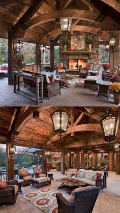 fireplace pit ideas Cabana, Gazebo, Outdoor Structures, House Styles, Ideas, Home Decor, Facades, Homemade Home Decor, Kiosk
