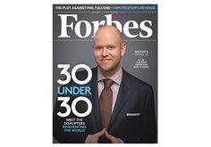 Forbes가 현 음악산업에서 가장 중요한 인물이라며 Spotify의 28세 CEO Daniel Ek 특집기사를 실었네요. 좀 깁니다~