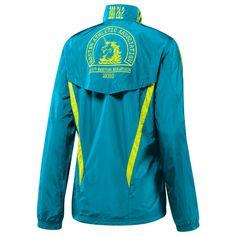 "adidas Boston Marathon 2010 Official Marathon Jacket Women's (Back) ""Core Teal"" and ""Acid Buzz"""