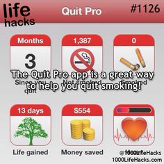 Quit smoking app (You can find the app here https://itunes.apple.com/app/id336786774 )