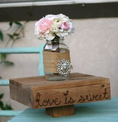 Rustic cake stand...