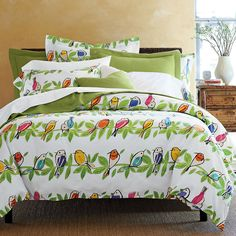 DISCONTINUED but I bought it on Ebay to save for a time I can have one for all the girls! Songbird Comforter Cover / Duvet Cover | The Company Store
