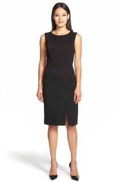 Classiques Entier® ClassiquesEntier® Back Zip PonteSheath Dress available at #Nordstrom