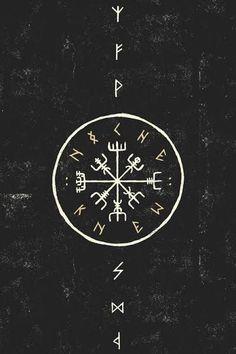 "kahankiller: "" Vegvísir, also known as the Norse Compass. It's magick keeps… – Norse Mythology-Vikings-Tattoo Viking Wallpaper, Ps Wallpaper, Compass Wallpaper, Mobile Wallpaper, Norse Runes, Viking Runes, Wallpapper Iphone, Erde Tattoo, Viking Compass Tattoo"