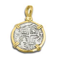 Atocha Coin Jewelry Silver Coin Pendant Treasure Coin Pirate Jewelry Shipwreck  #AtochaCoinJewelry #AtochaCoinJewelry