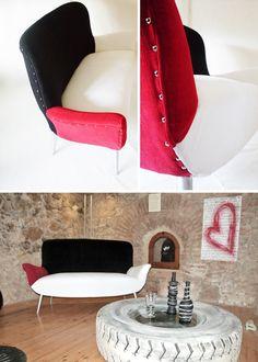 Divano pop anni ´30 // 30s pop sofa by @Lucy Fenech (ORAdesign) via it.dawanda.com