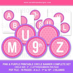 Spell Out Anything With these FREE Alphabet Circle Banners from Sarah Hope Designs | Catch My Party