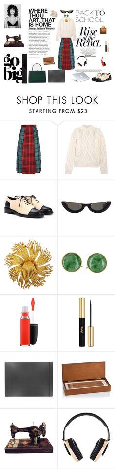 """Watch me rise"" by maariavld on Polyvore featuring Gucci, Acne Studios, Stuart Weitzman, Susan Caplan Vintage, MAC Cosmetics, Yves Saint Laurent, Moleskine, Faber-Castell, Dyson and Pryma"