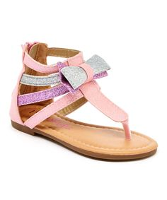 Look at this Yokids Pink Seren Sandal on #zulily today!