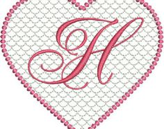 Valentines Lace Heart Machine Embroidery Alphabet Monogram Fonts Designs Instant Download Sale