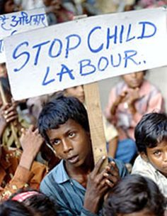 stop child labour - Children don't wish to be exploited, yet as a whole we enable it. by becoming a world that requires minimal payments for luxury in demand items, we enable companies to exploit children.
