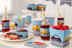 Foto y Diseño: POSTREADICCIÓN. Impresión y recorte aquí:  http://articulo.mercadolibre.com.ar/MLA-596399713-cumpleanos-coches-kit-deco-impresion-y-recorte-_JM