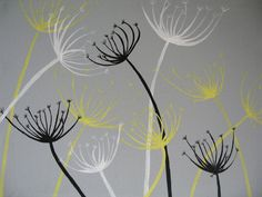 Dandelion Painting Custom Artwork - You choose the colors!