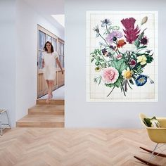 Bouquet of Flowers Power Trip, Design Shop, Rose Violette, Wall Murals, Wall Art, Clock Wall, Unique Wall Decor, Botanical Prints, Oeuvre D'art