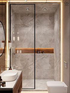 Modern Luxury Bathroom, Bathroom Design Luxury, Bathroom Layout, Modern Bathroom Design, Home Interior Design, Modern Shower, Modern Bathrooms, Small Luxury Bathrooms, Bathroom Ideas