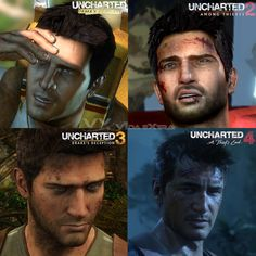 The evolution of Nathan Drake from Uncharted.