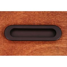 """This oil rubbed bronze finish cabinet/drawer flush pull with thick oval design and 1/2"""" recess is from RK International perfect for use on cabinet doors and drawers capable of accepting a mounted pull."""