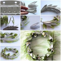 Well, egg carton craft ideas are not as difficult as they might appear at the first glance. These Egg Carton Crafts for Kids above will make you want to get Egg Carton Art, Egg Carton Crafts, Egg Cartons, Loom Flowers, Paper Flowers, Wreath Crafts, Diy Crafts, Wreath Ideas, Easter Crafts