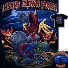 "INSANE CLOWN POSSE ""GRAVEYARD"" JOKERS BLACK T-SHIRT MEDIUM NEW ICP"