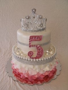 Princess Tiara Birthday Cake This Would Be So Easy To Make - Cakes for princess birthday