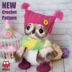 Julia Ogol has new pattern in English  Cute owl.