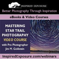 Free Online Astronomy Landscape Workshop 3/26-3/29  inspiredexposure....  Reminder: The entire course will be streamed online FREE! Sign up for details.    Pre-order the course video & get:    - Mastering Star Trail Photography Video  - Professional Instruction & Tips Covering Every Aspect Of Star Trail Photography  - FREE: Copy Of The eBook Photographing The 4th Dimension — Time  - BONUS: Included In A Random Drawing To Win A Free Copy Of Adobe Photoshop Extended