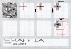 Day Two of my daily publication of seven new tangle patterns. 'Raffia' is, I guess, an adaptation of the numerous basket-weave based tangle patterns. ...