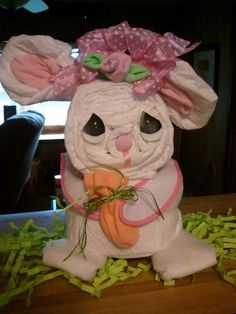 My diaper bunny creation.