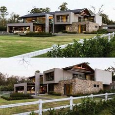 Best Modern Exterior Design Ideas - Board and Batten Siding Blog Layouts Casa, House Layouts, Luxury Modern Homes, Luxury Homes Dream Houses, Design Exterior, Modern Exterior, Modern Villa Design, Modern Contemporary House, House Front Design