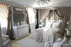 визуализация спальня дом в Харькове